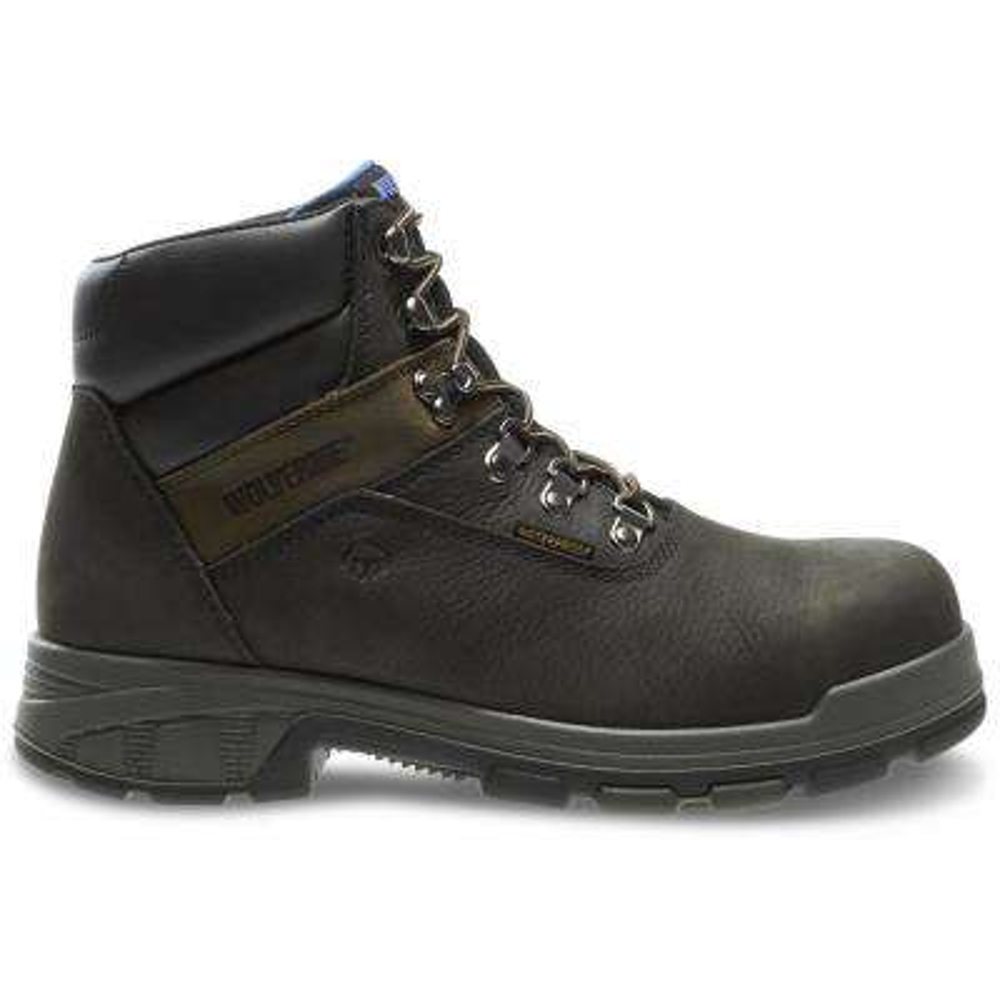 "Men's Cabor Size 8.5M Black Nubuck Leather Waterproof Composite Toe 6"" Boot"