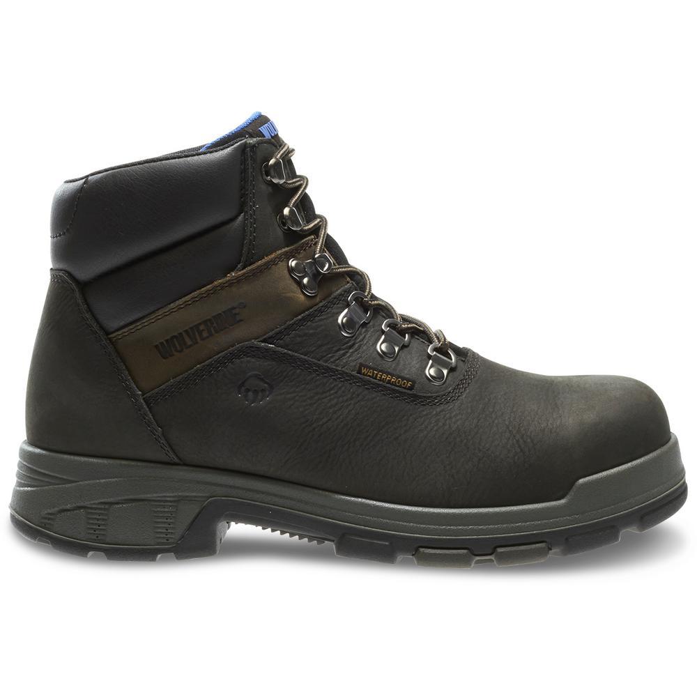 7caa5b1d2cf Wolverine Men's Cabor Size 9.5EW Black Nubuck Leather Waterproof Composite  Toe 6 in. Boot