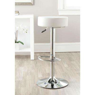 Jude Adjustable Height Chrome Swivel Cushioned Bar Stool