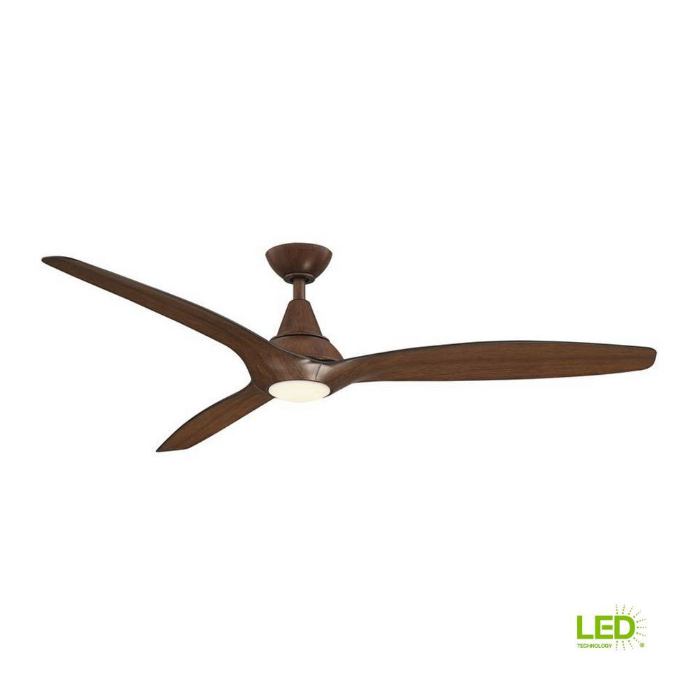 home decorators collection tidal breeze 60 in led indoor distressed koa ceiling fan with light. Black Bedroom Furniture Sets. Home Design Ideas
