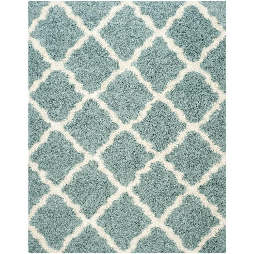 Safavieh Dallas Shag Seafoam Ivory 8 Ft X 10 Area Rug