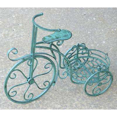 Antique Green Tricycle Plant Stand