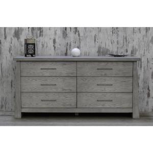 Fusion 6-Drawer Driftwood Dresser by