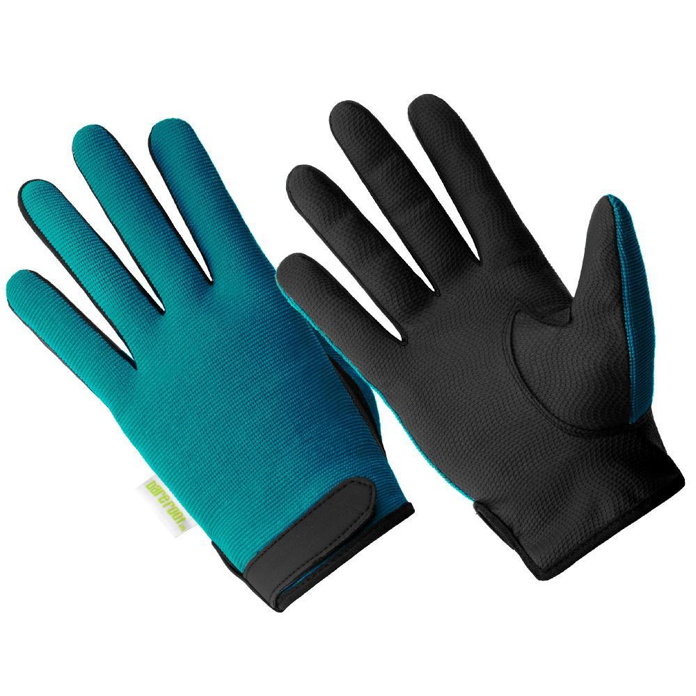 Ladies Hi Dexterity 100% Waterproof Palm Printed Black Sereno Glove, Teal