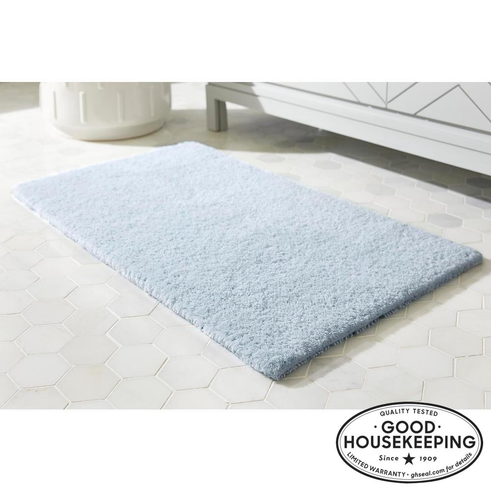 Raindrop 24 in. x 40 in. Cotton Reversible Bath Rug