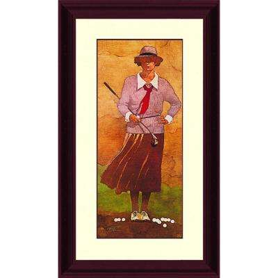 39.in x 21.62.in''Vintage Lady Golfer'' By PTM Images Framed Printed Wall Art