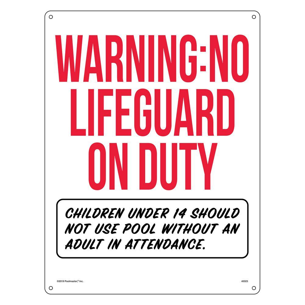 Warning: No Lifeguard on Duty Pool Sign Swimming Pool Sign