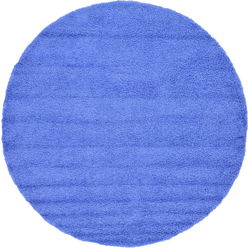 Solid Periwinkle Blue 8 Ft Round Area Rug
