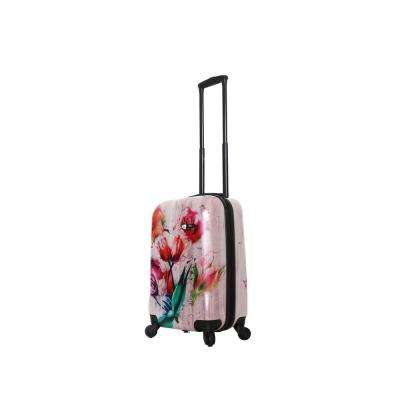 Paola 20 in. Painted Flowers Spinner Suitcase