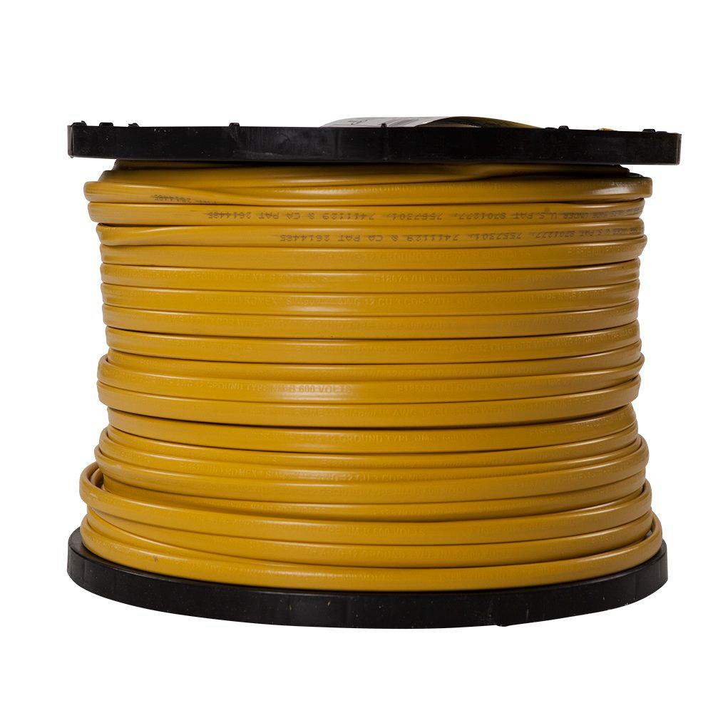 Southwire 1000 ft. 12/3 Solid Romex SIMpull CU NM-B W/G Wire on
