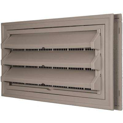 9-3/8 in. x 17-1/2 in. Foundation Vent Kit with Trim Ring and Optional Fixed Louvers (Molded Screen) in #008 Clay
