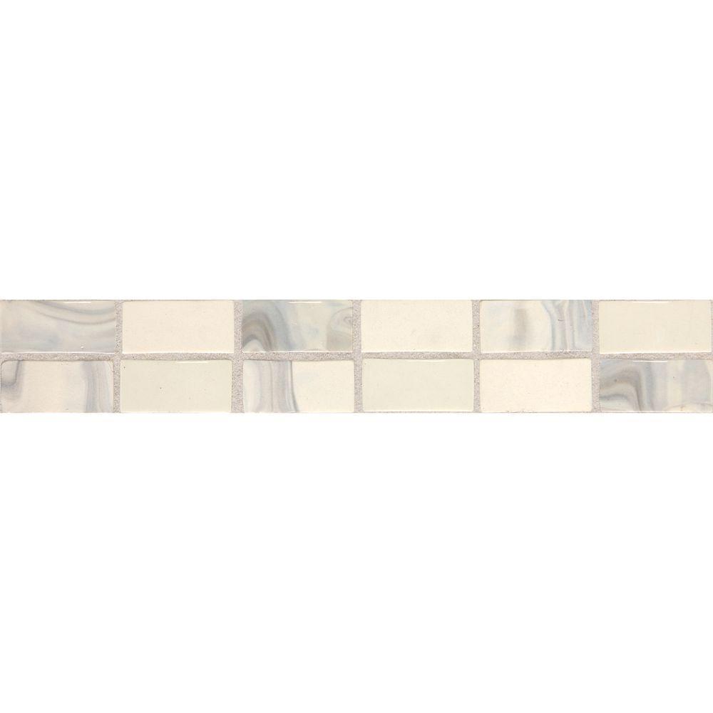 Daltile Fashion Accents Noce Swirl 2 in. x 12 in. Ceramic Decorative Accent Wall Tile