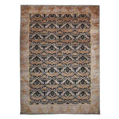 Arts Lavender 9 ft. x 12 ft. Indoor Area Rug