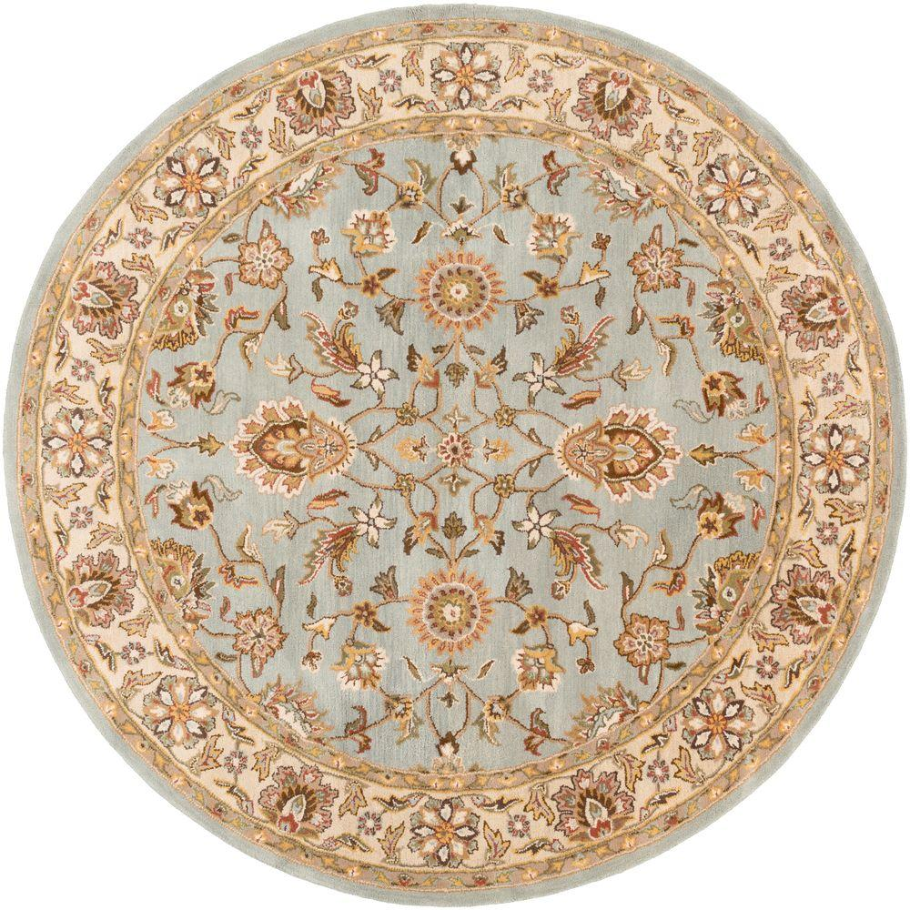 Middleton Charlotte Sky Blue 4 ft. x 4 ft. Round Indoor