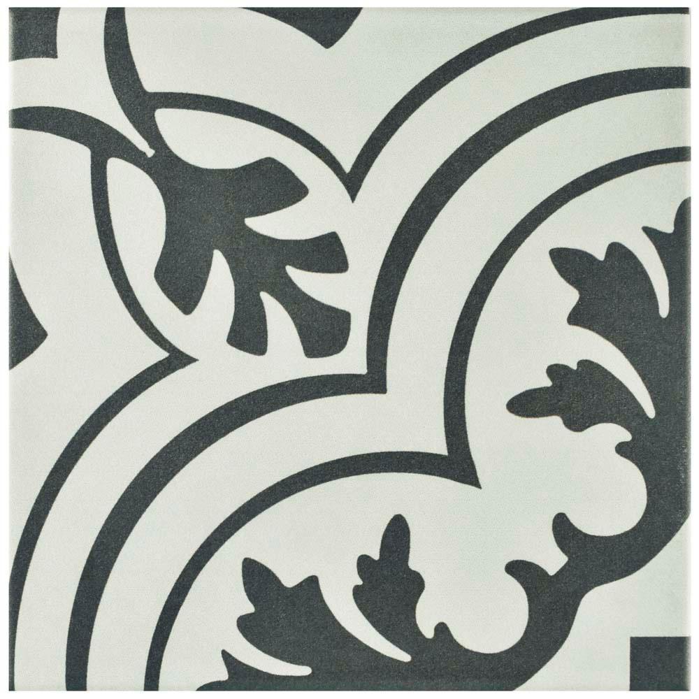 Merola Tile Twenties Vintage Ceramic Floor and Wall Tile - 7-3/4 in. x 7-3/4 in. Tile Sample
