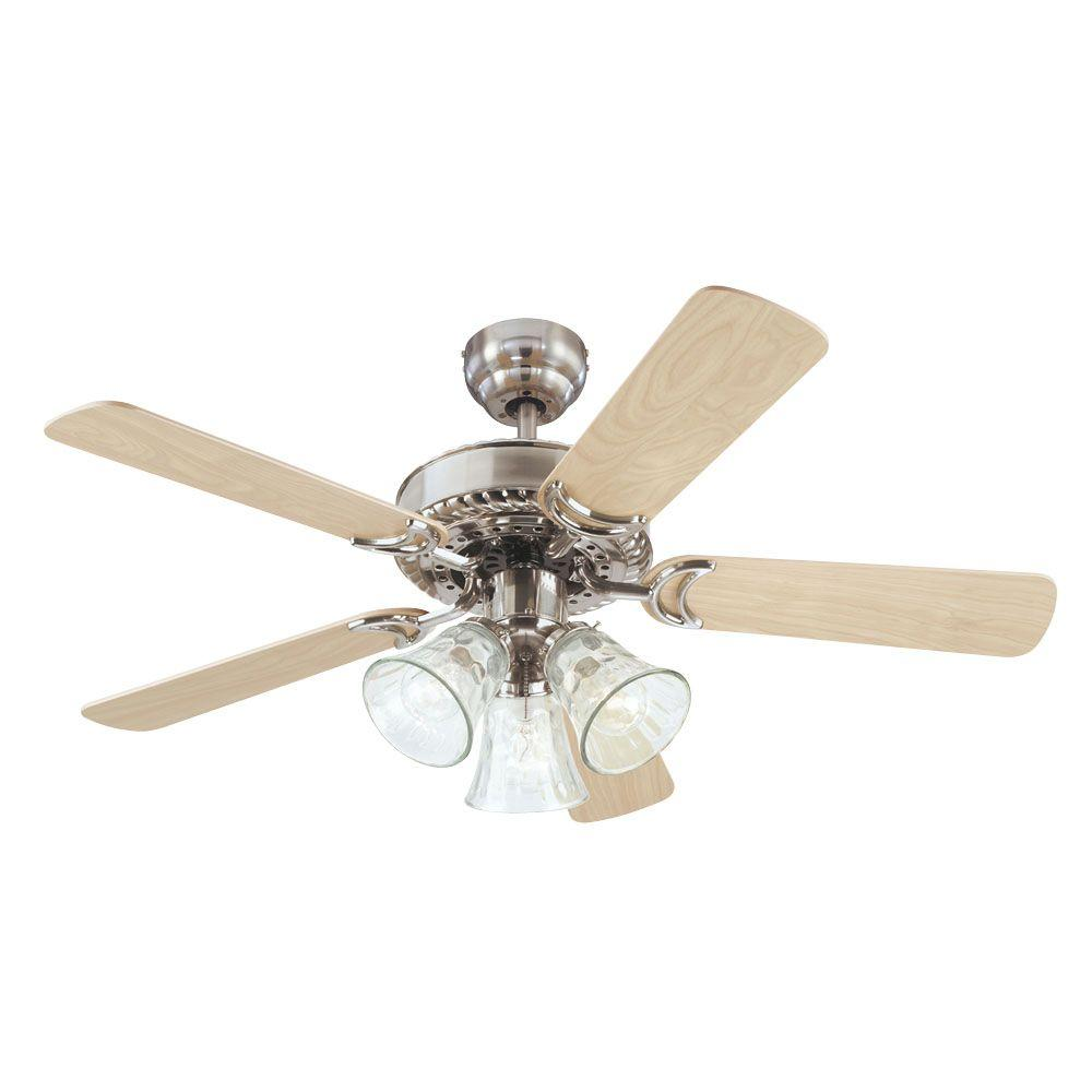Home Depot Ceiling Fan Blades: Westinghouse Newtown 42 In. Indoor Brushed Nickel Ceiling