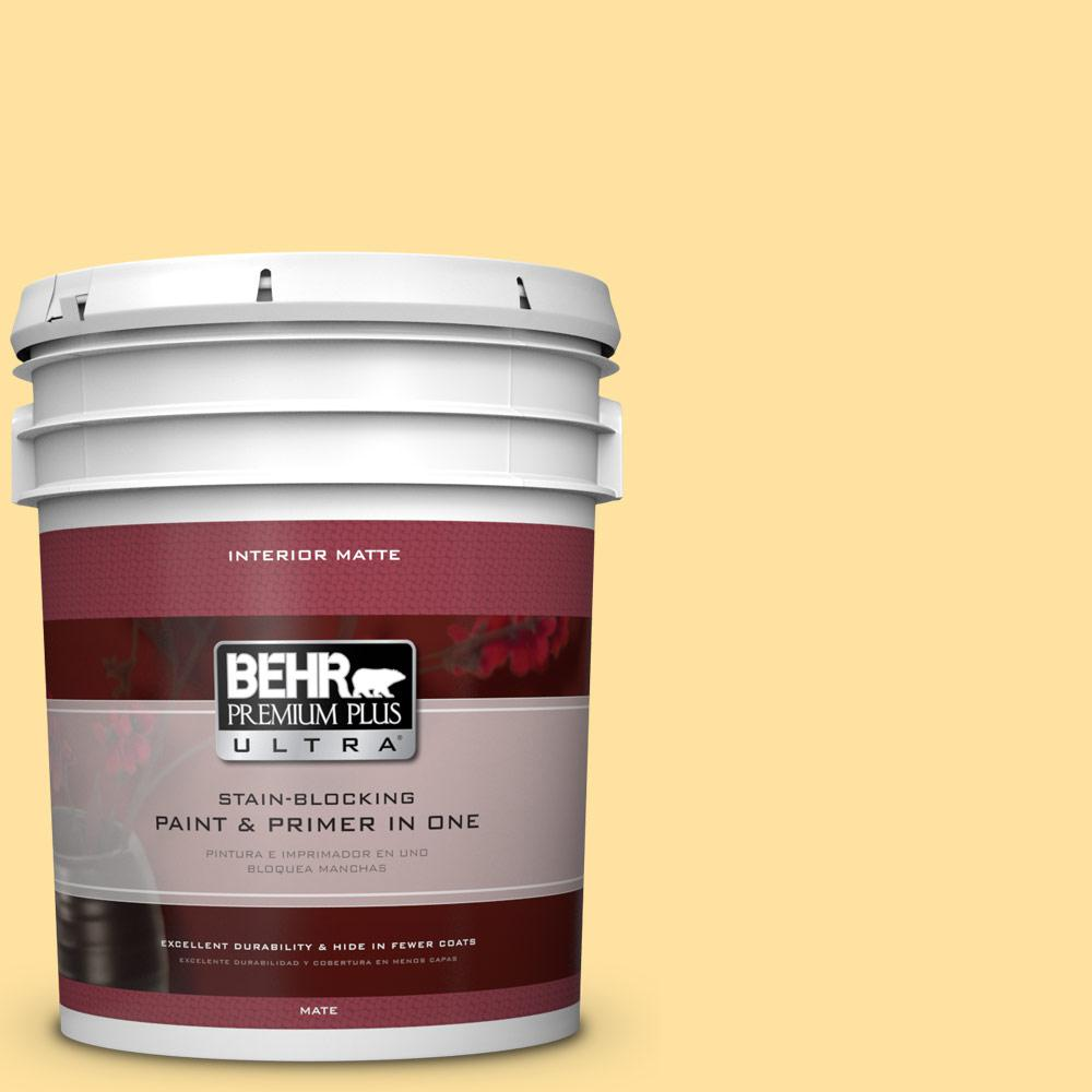 BEHR Premium Plus Ultra 5 gal. #P280-3 Polka Dot Skirt Matte Interior Paint