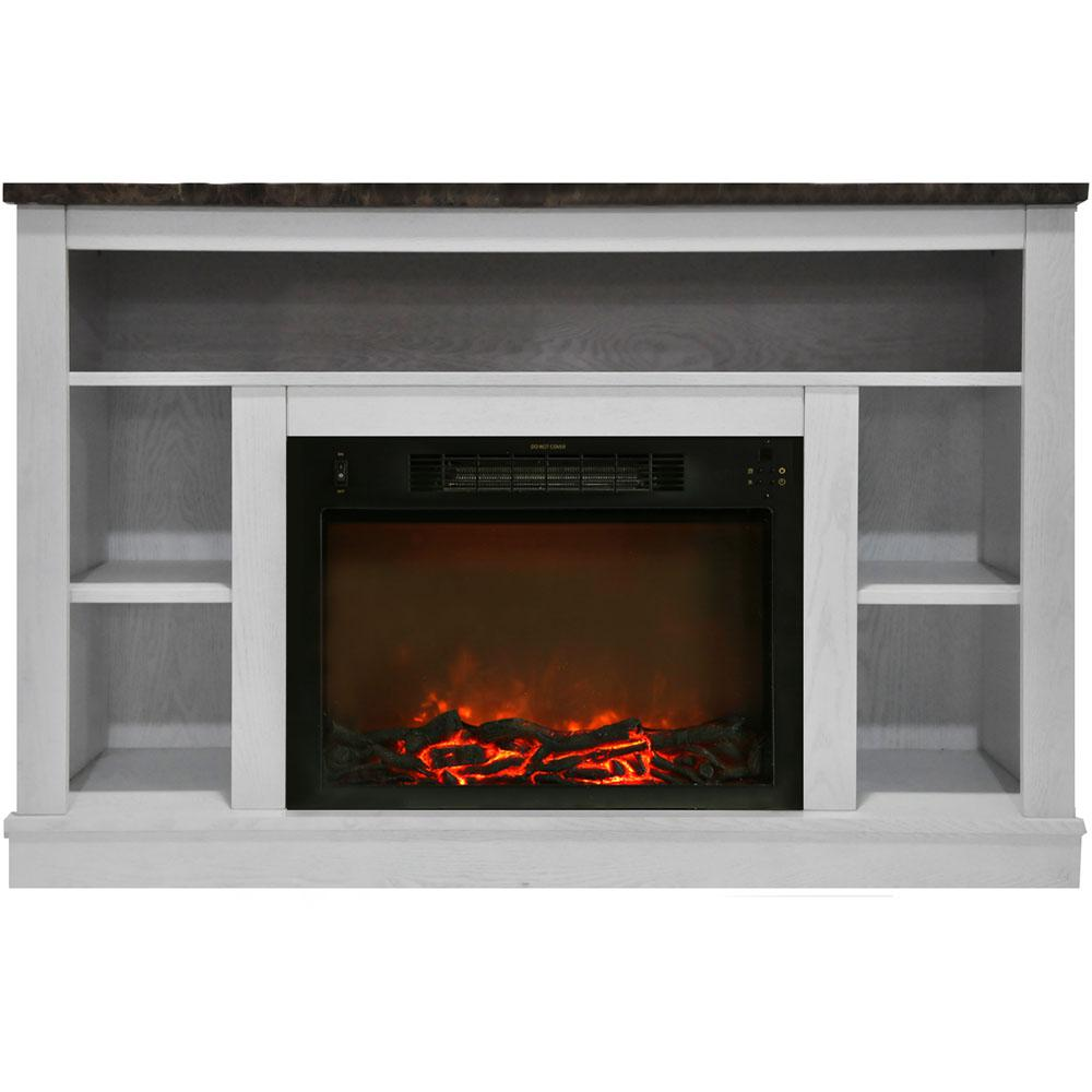 The Oxford electric fireplace will quickly turn your room into a cozy conversation space for warm family gatherings. Not only is it packed with heat functions and adjustable flame displays