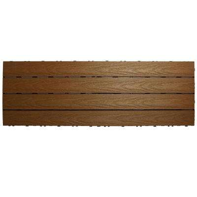 UltraShield Naturale 1 ft. x 3 ft. Quick Deck Outdoor Composite Deck Tile in Peruvian Teak (15 sq. ft. per box)