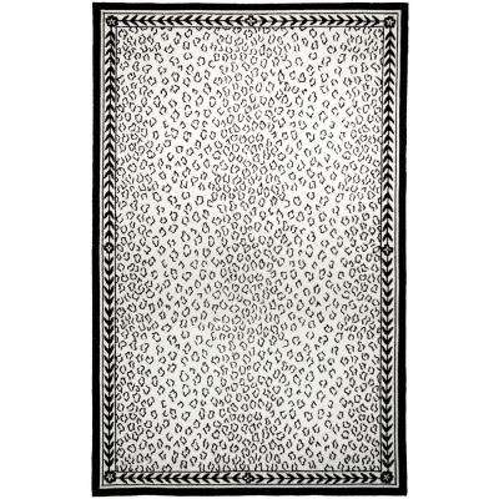 Chelsea White/Black 5 ft. x 8 ft. Area Rug