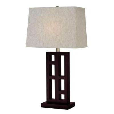 Lavelle 30 in. Mahogany Table Lamp