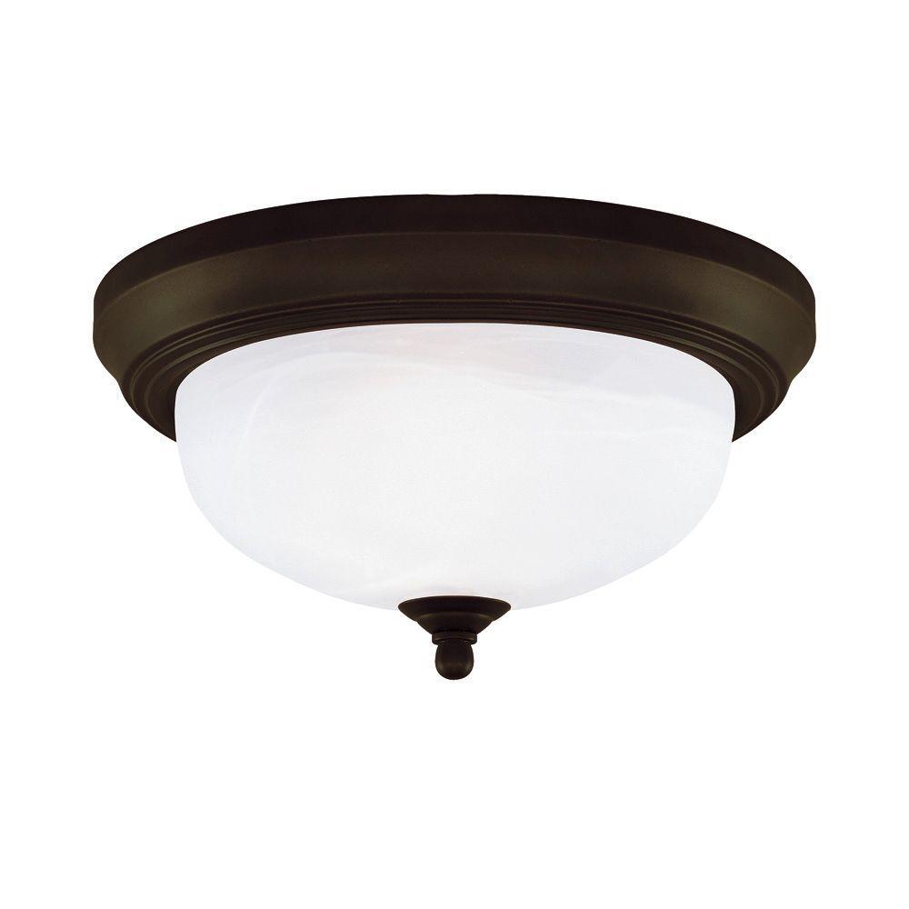 2 Light Ceiling Fixture: Westinghouse 2-Light Ceiling Fixture Oil Rubbed Bronze