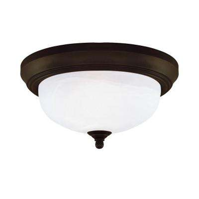 Westinghouse flushmount lights lighting the home depot 2 light ceiling fixture oil rubbed bronze interior flush mount with frosted white alabaster mozeypictures Gallery