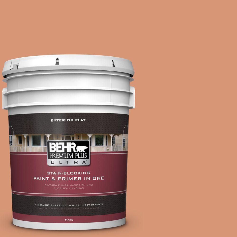 BEHR Premium Plus Ultra 5-gal. #M210-5 Candied Yams Flat Exterior Paint