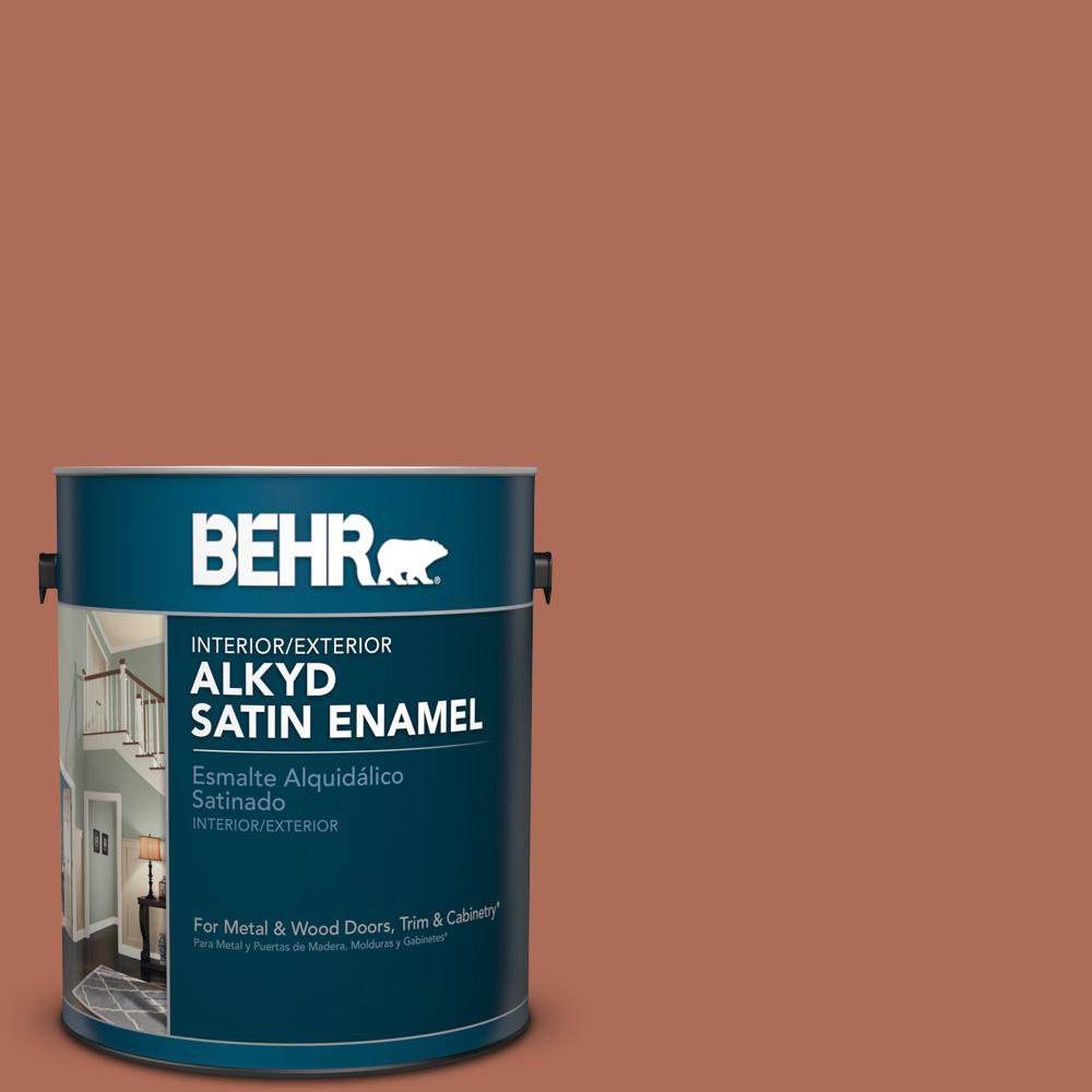 1 gal. #BXC-39 Sunset Orange Satin Enamel Alkyd Interior/Exterior Paint