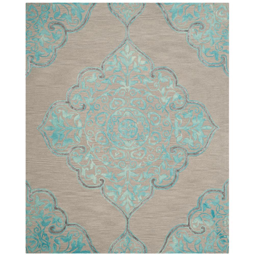 Safavieh Dip Dye Gray Turquoise Area Rug Reviews: Safavieh Dip Dye Gray/Turquoise 8 Ft. X 10 Ft. Area Rug