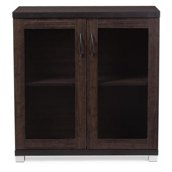 Zentra Contemporary Dark Brown Storage Cabinet