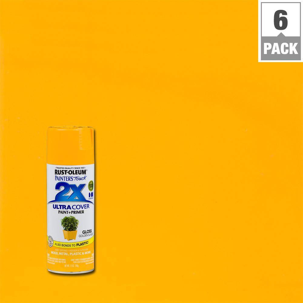 12 oz. Golden Sunset Gloss General Purpose Spray Paint (6-Pack)