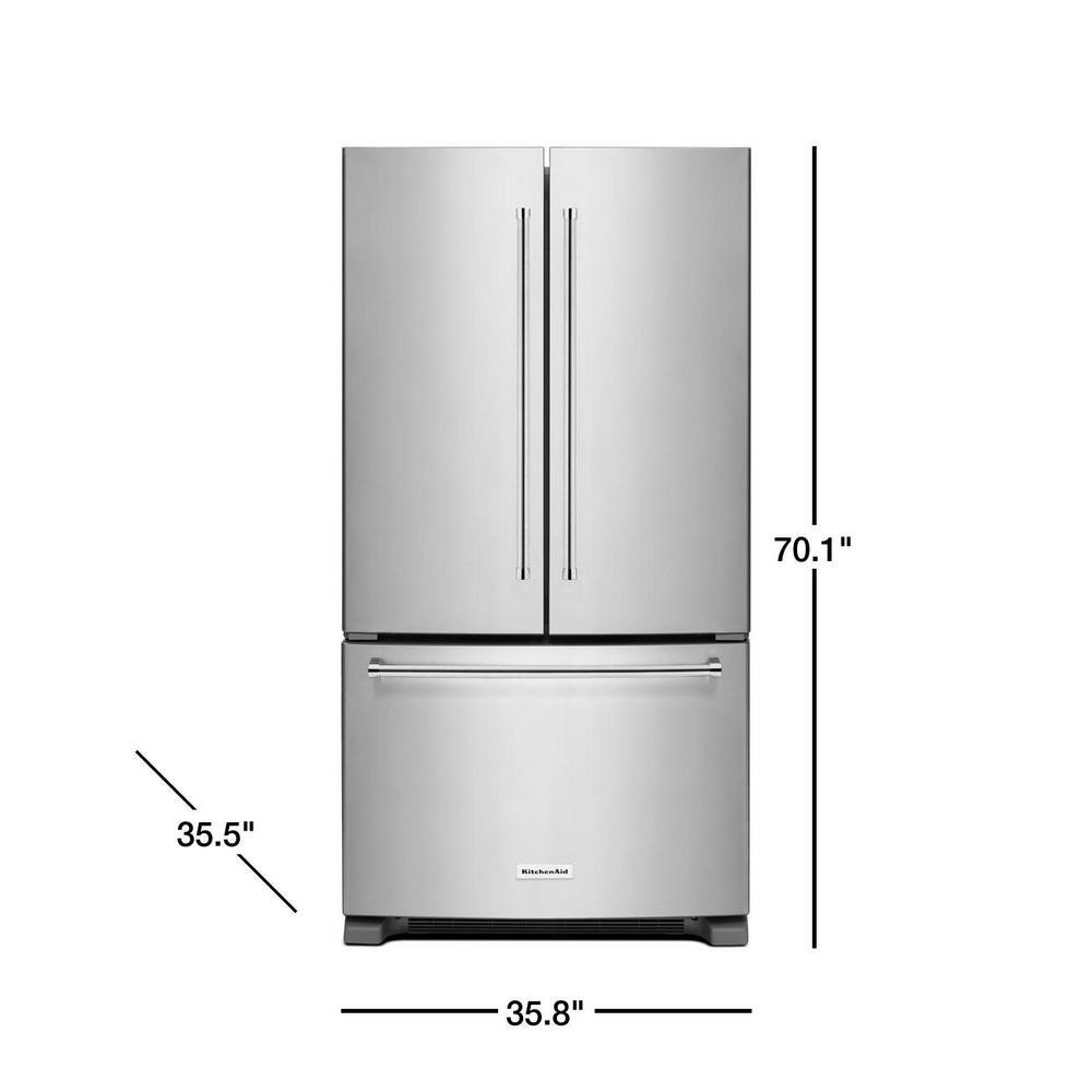 25 2 Cu Ft French Door Refrigerator