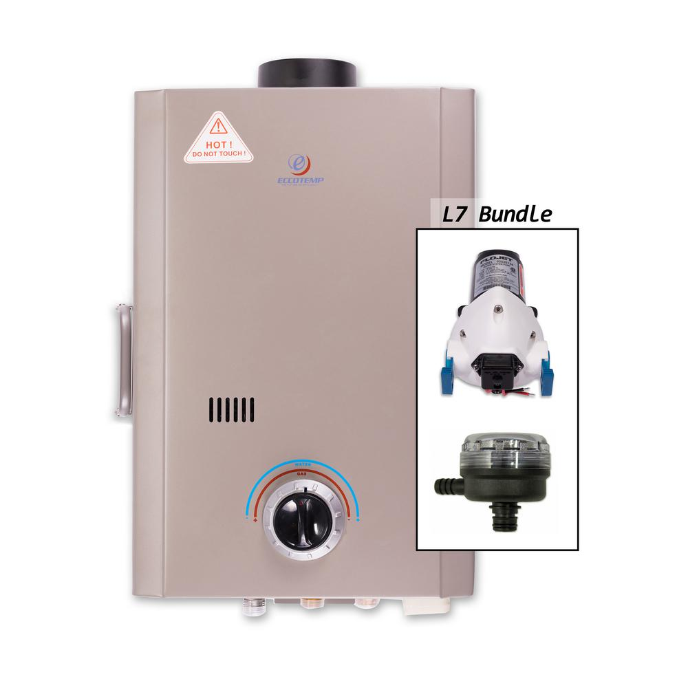 Eccotemp L7 Portable Tankless Point-Of-Use Water Heater w...