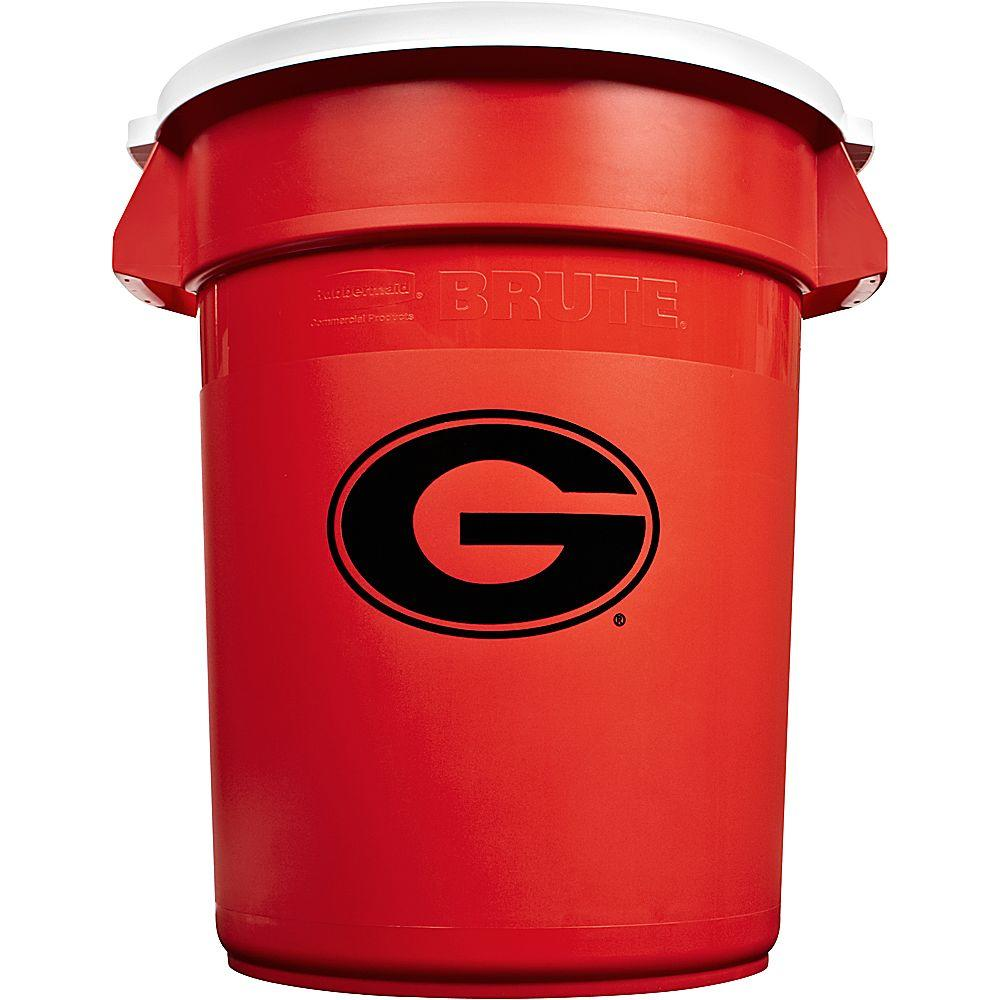 Rubbermaid Commercial Products BRUTE NCAA 32 Gal. University of Georgia Round Trash Can with Lid