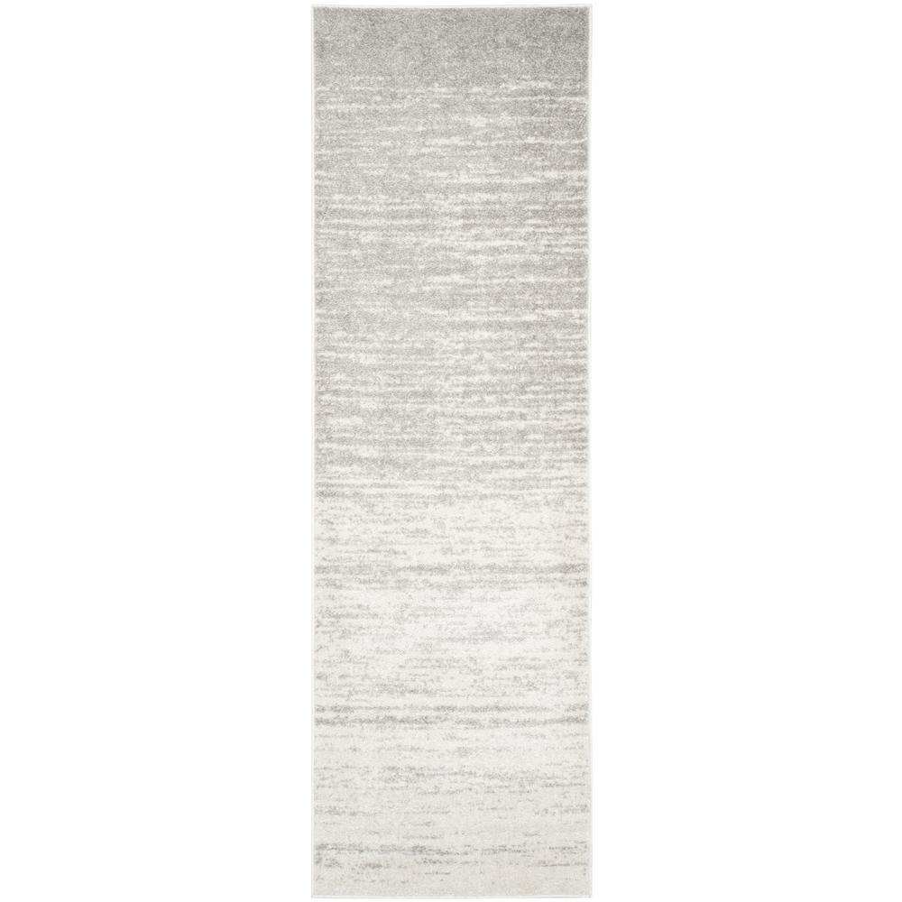 Adirondack Ivory/Silver 3 ft. x 20 ft. Runner Rug