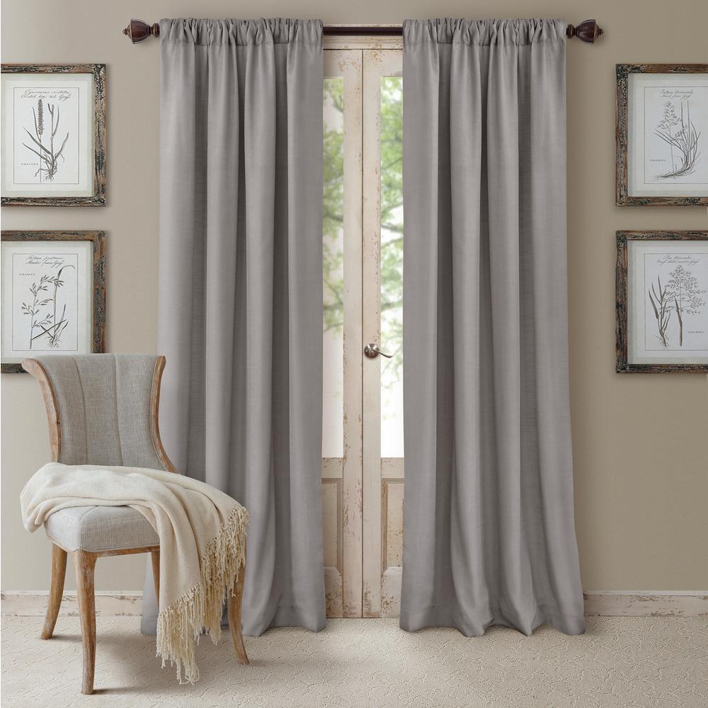 Elrene Cachet Textured Solid Blackout Window Curtain
