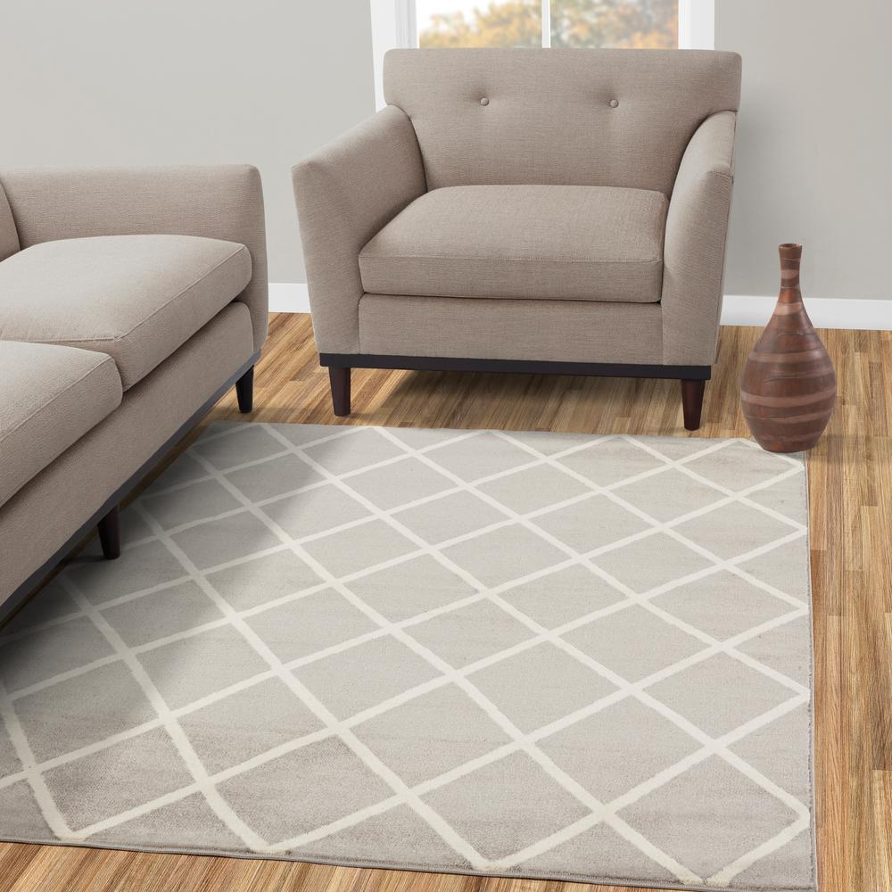 diagona designs jasmin collection gray and ivory 5 ft x 7 ft rh homedepot com