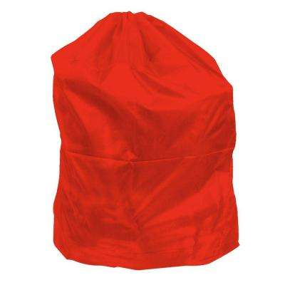 Jumbo Sized Nylon Laundry Bag in Red