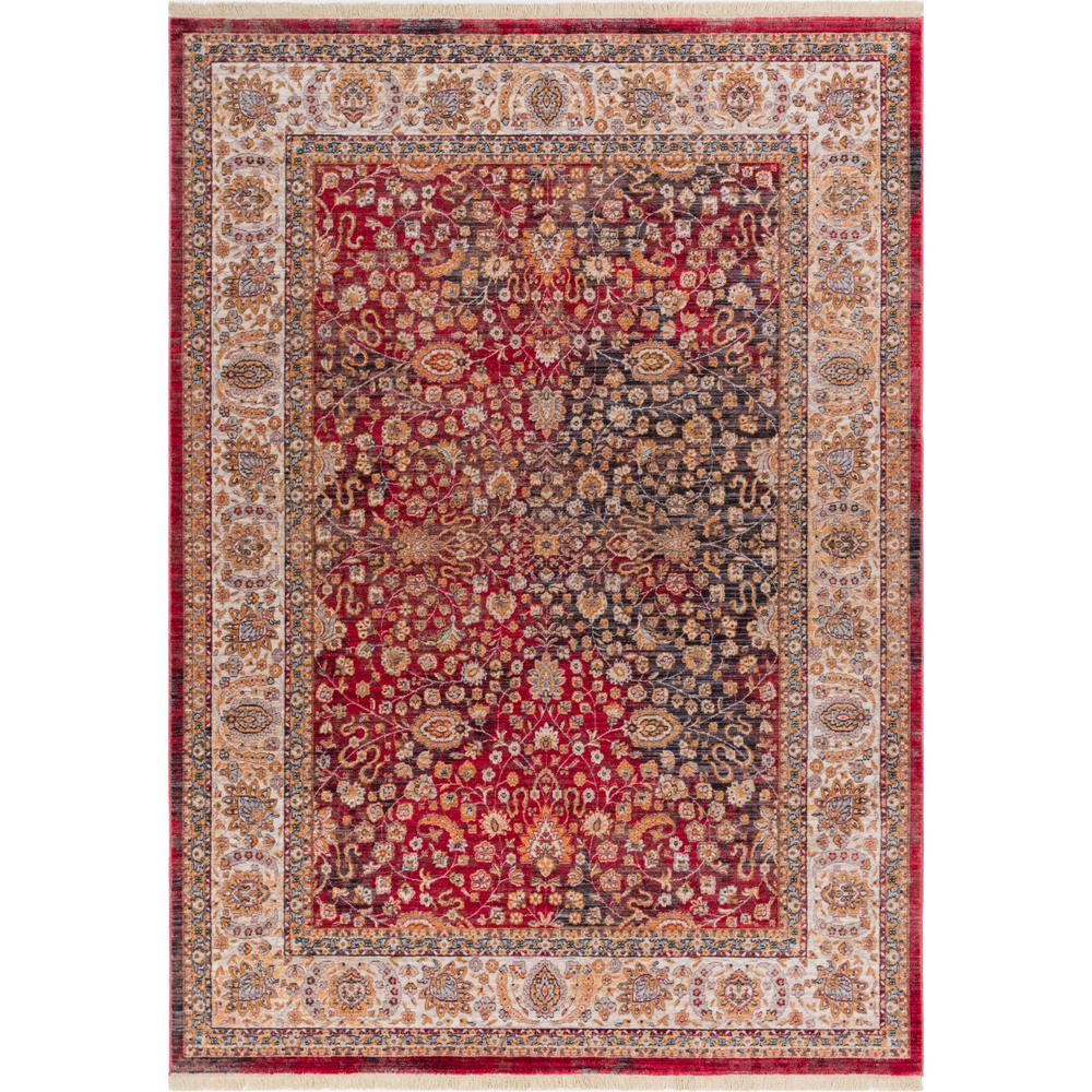 Well Woven Global Treasures Emile Red 4 Ft X 6 Ft Modern