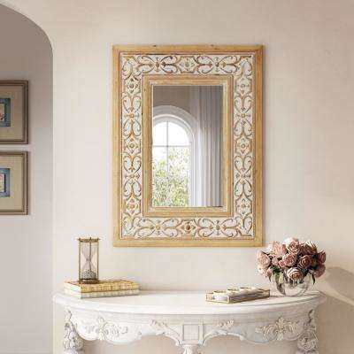 Maris 31.5 in. x 23.5 in. Wood Wall Mirror