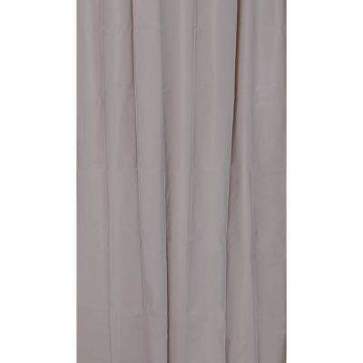 Solid Eva 71 in. x 79 in. Taupe Bath Shower Curtain