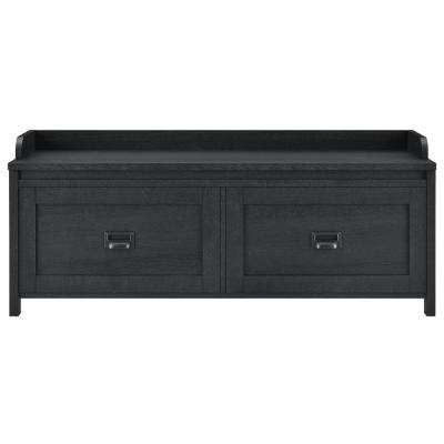 Brownwood Black Entryway Storage Bench