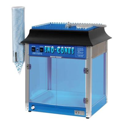 Storm 8000 oz. Blue Stainless Steel Countertop Snow Cone Machine