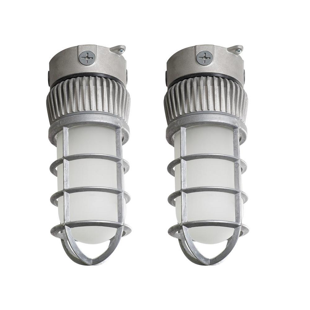14-Watt Integrated LED Area and Flood Light 1900 Lumens Outdoor Light Outdoor Security Lighting (2-Pack)
