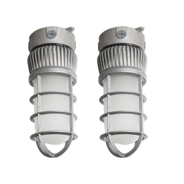 125-Watt Equivalent Integrated Outdoor LED Area Light and Flood Light, 1900 Lumens Outdoor Security Lighting (2-Pack)