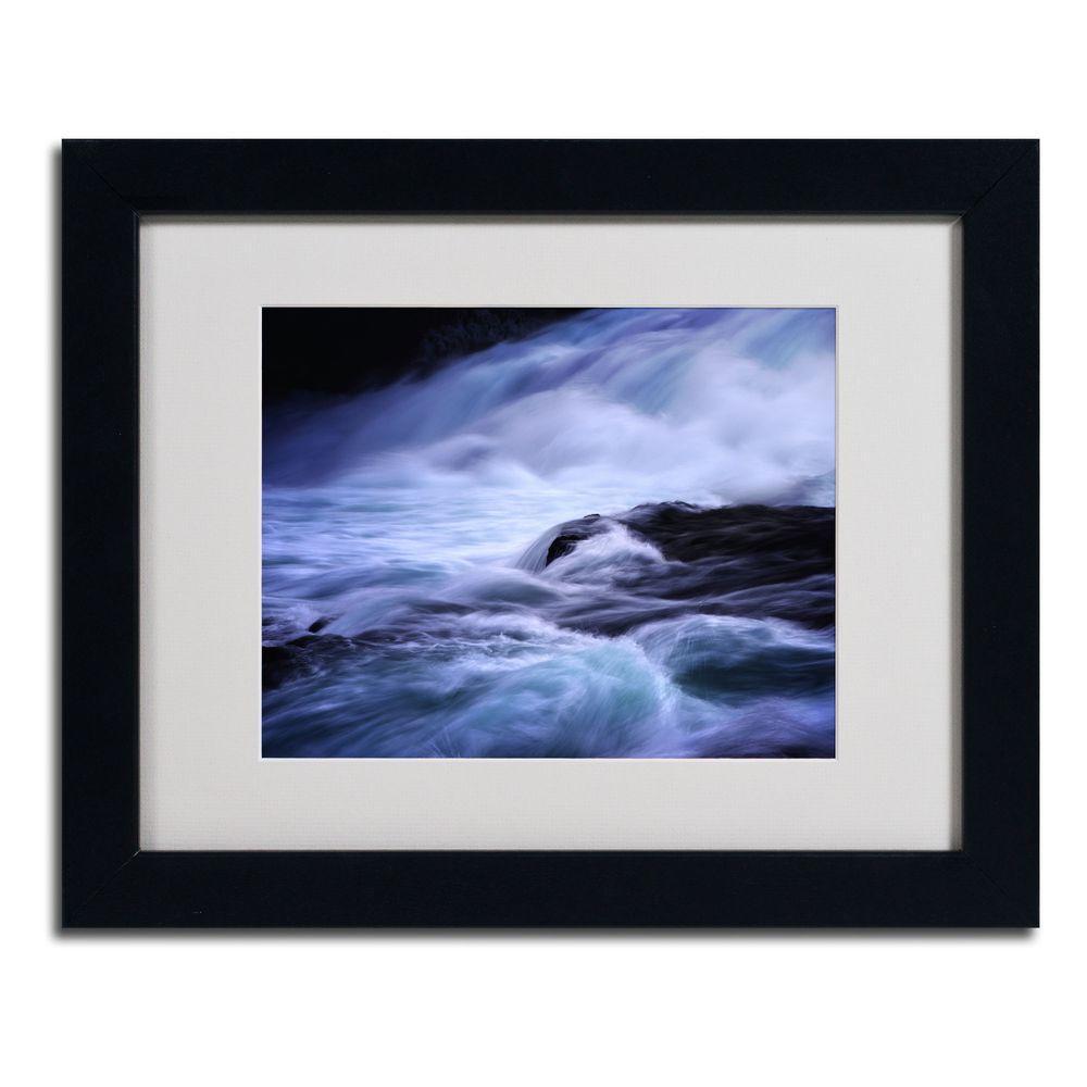 11 in. x 14 in. Blue Stream Matted Framed Art