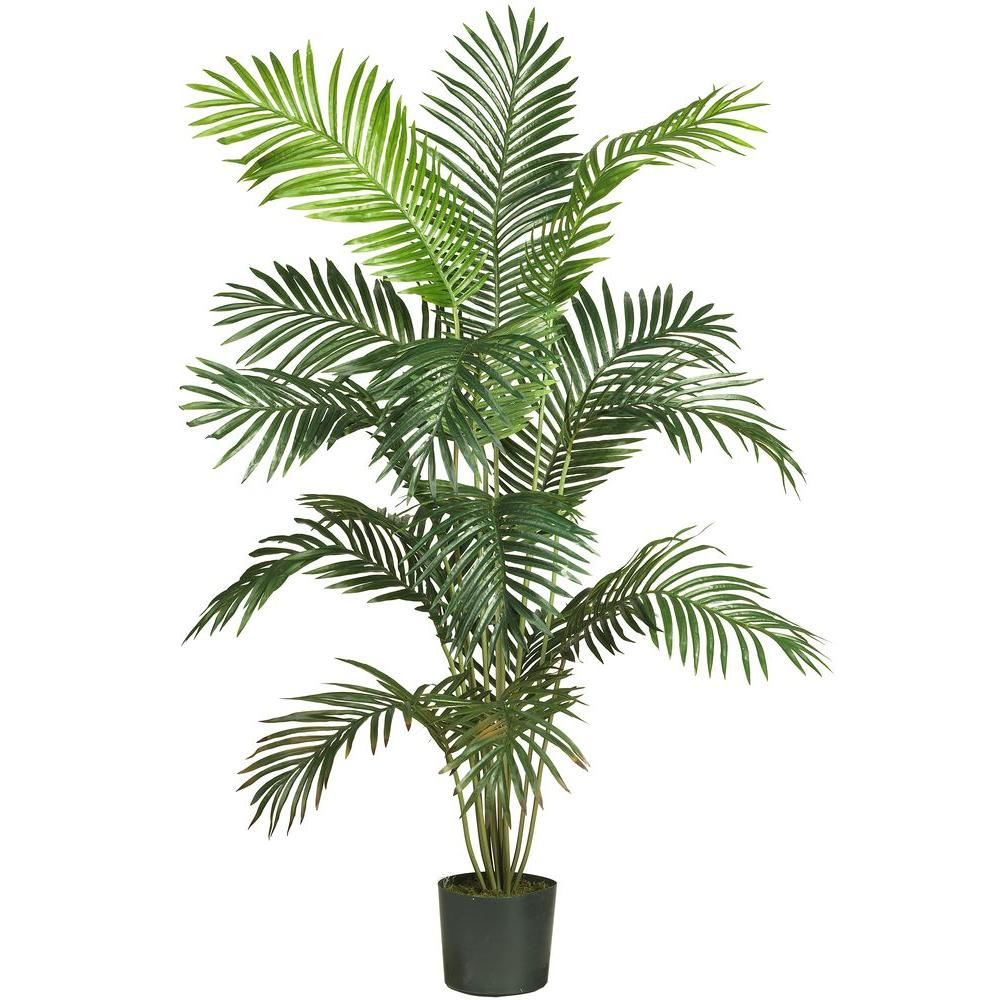 Nearly Natural 5 Ft 6 In Paradise Palm Silk Tree 5260 The Home Depot
