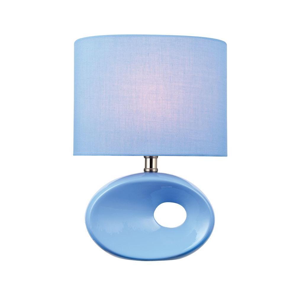 Illumine Designer 13 in. Blue CFL Table Lamp