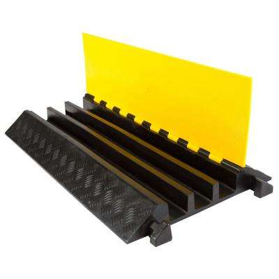 3 ft. L 3-Channel 2.5 in. Industrial Rubber Cable Ramp